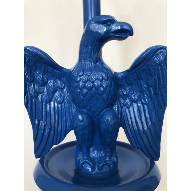 Vintage Royal Blue Federal Style Eagle Floor Lamp For Sale - Image 12 of 13