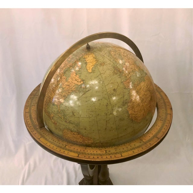 Traditional Antique American Rand McNally Standing Globe, Circa 1920. For Sale - Image 3 of 4