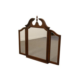 Drexel Heritage Carlton Cherry Collection Tri-Fold Mirror For Sale