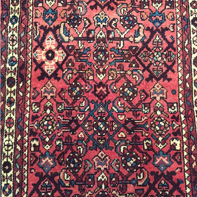 "Hamadan Hand Made Persian Rug - 2'5"" x 3'2"" - Image 4 of 9"