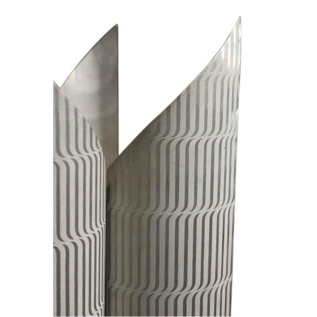 1970s Lorenzo Burchiellaro Printed Aluminium Floor Lamp For Sale - Image 5 of 6
