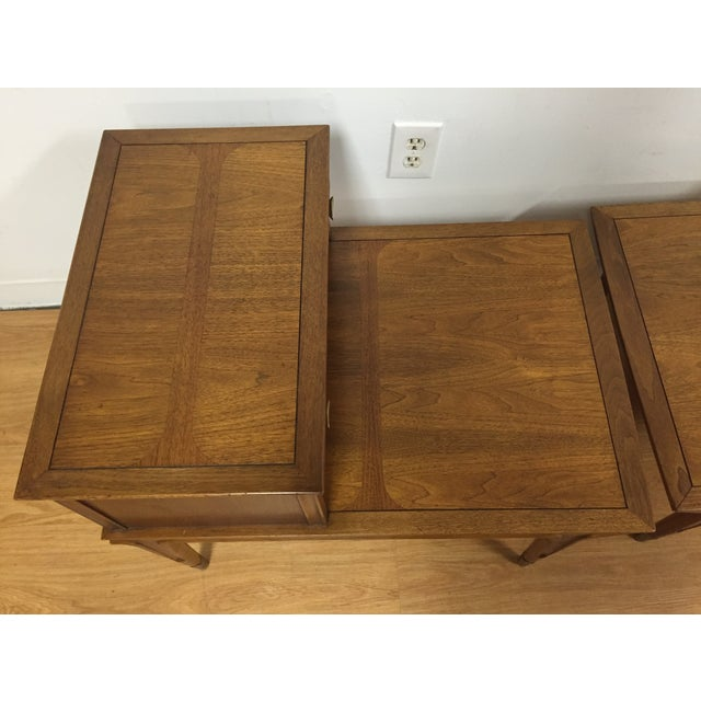 Mid Century Sculpted End Tables - a Pair - Image 9 of 11