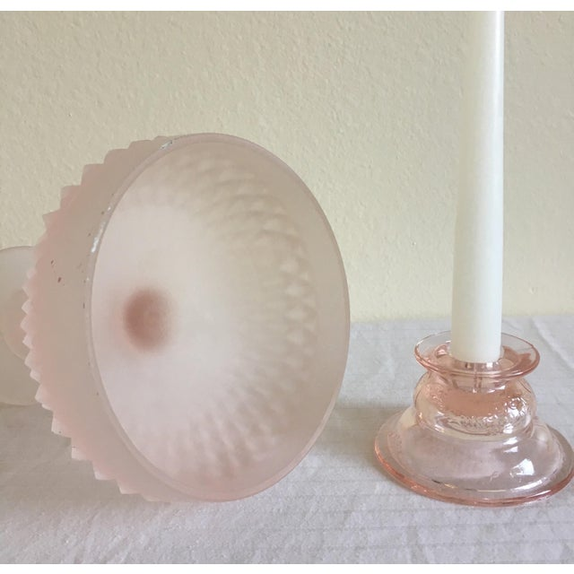 Mid-Century Pedestal Bowl & Candle Holder - Pair - Image 8 of 9