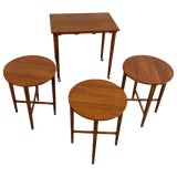 Image of Danish Modern Poul Hundevad Teak Nesting Folding Side Tables - 4 Pieces For Sale