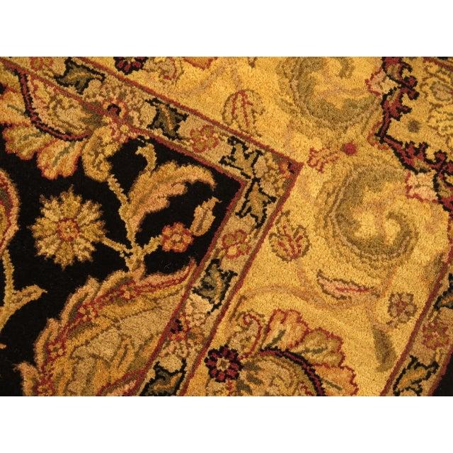 Vintage Black & Gold Wool Rug - 6' X 9' For Sale - Image 9 of 11