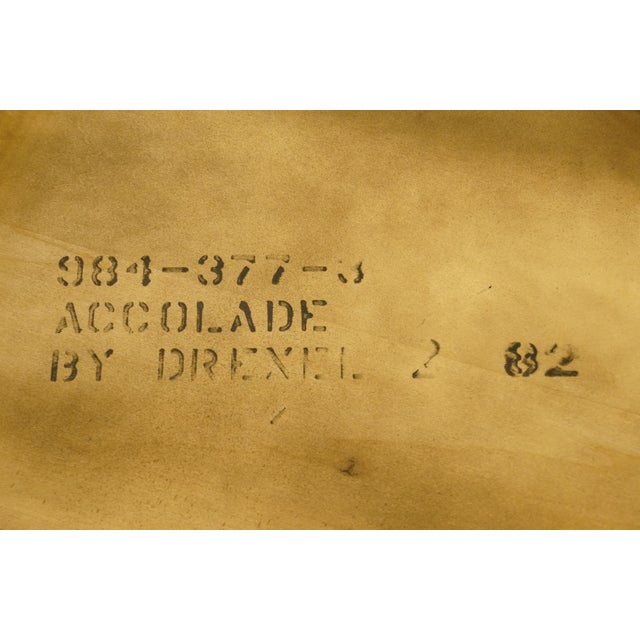 20th Century Campaign Drexel Heritage Accolade II Collection Hexagonal Storage Cabinet For Sale - Image 10 of 11