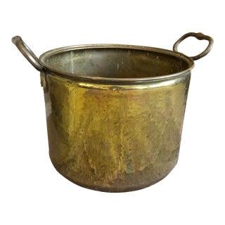 Solid Brass Planter Handled Heavy/Log Holder For Sale