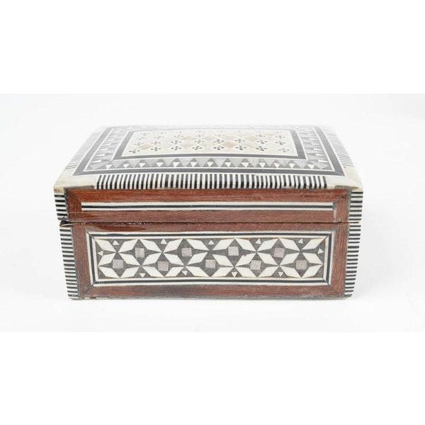 Inlaid Wood Jewelry Boxes - A Pair For Sale - Image 4 of 6