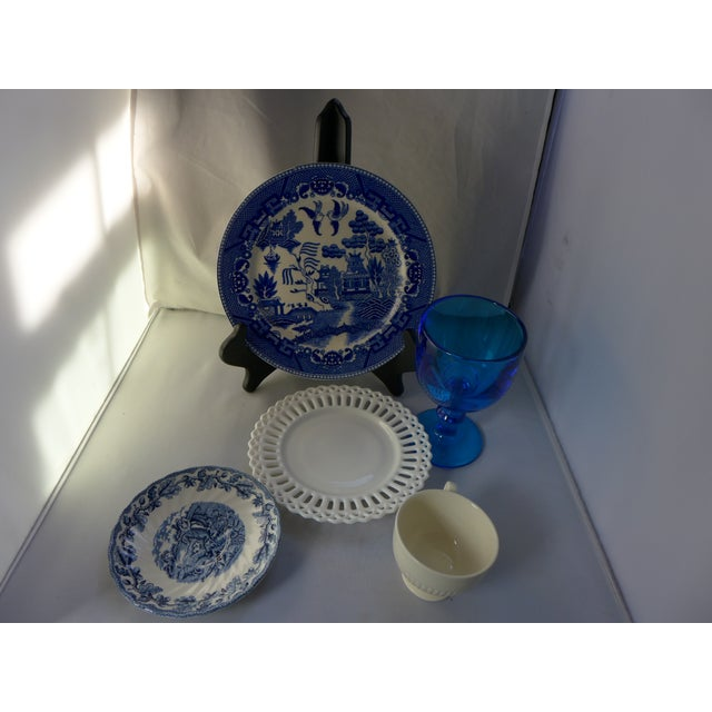 Vintage Mismatched Lunch Settings - Set of 5 For Sale In New York - Image 6 of 6