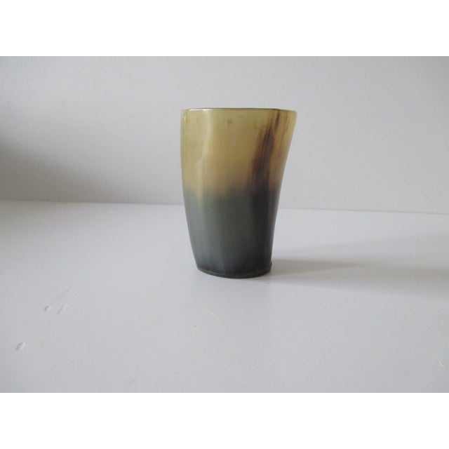 Faux Horn Decorative Vase Made in plastic. For decorative purposes only. Size: 3.75 x 2.5 x 1.5