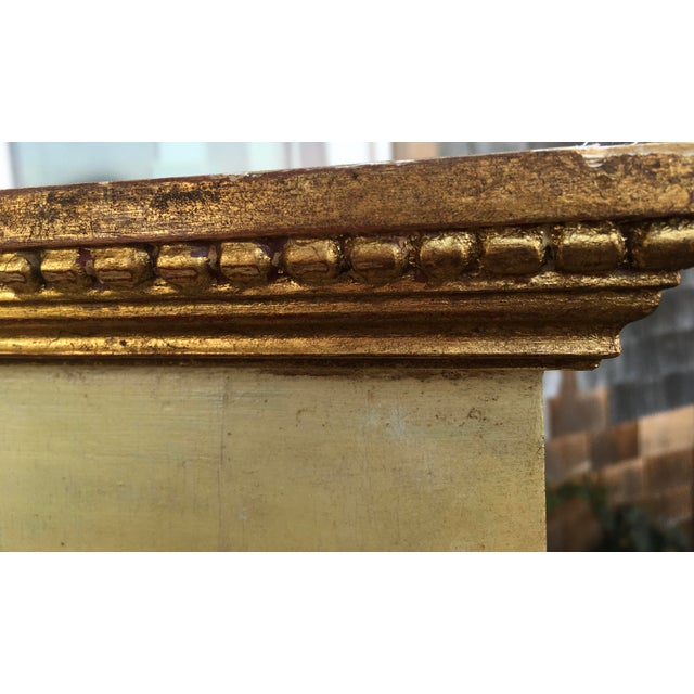 French Antique Gilt Gold Trumeau Pier Mirror For Sale - Image 4 of 9