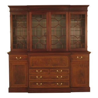 Henkel Harris Model 2384 Mahogany Breakfront Bookcase