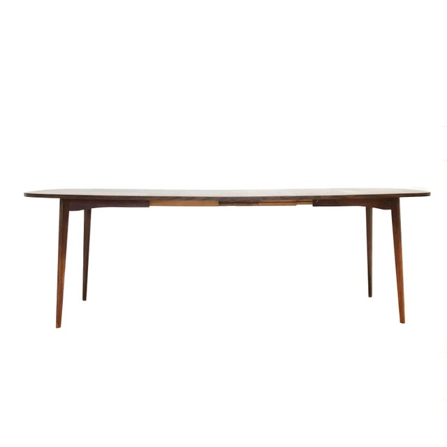 Mel Smilow Mid Century Modern Mel Smilow Dining Table With Two Leaves For Sale - Image 4 of 9