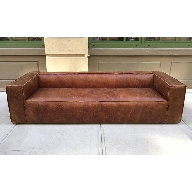 Prime Two 9 Ft Contemporary Distressed Leather Sofas Spiritservingveterans Wood Chair Design Ideas Spiritservingveteransorg