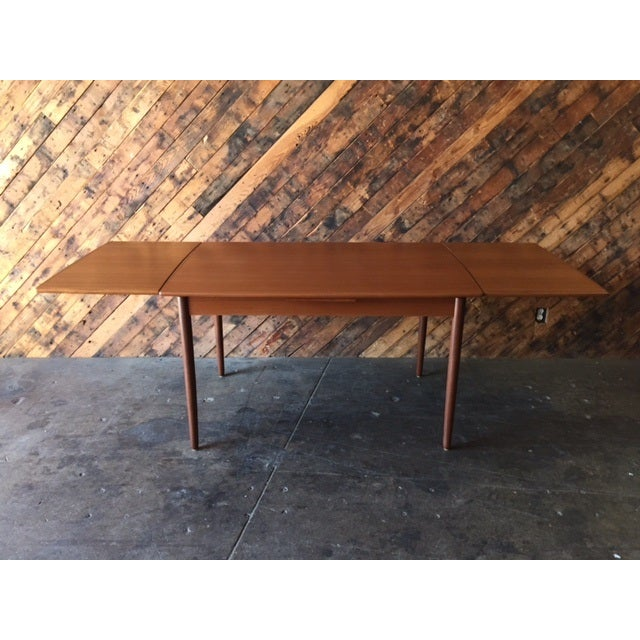 Mid-Century Danish Modern Refinished Dining Table - Image 2 of 8
