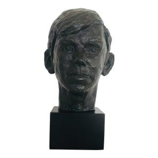 Mick Elsen 1970 Ceramic Bust of Boy