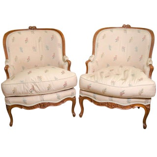 Pair of Louis XV Bergeres For Sale