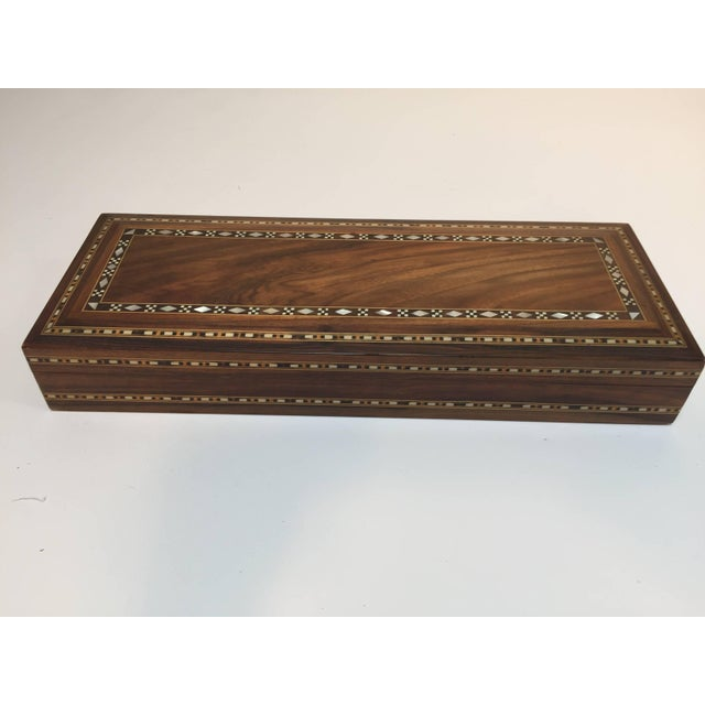 Mid Century Large Decorative Syrian Box Inlay With Mother-Of-Pearl For Sale In Los Angeles - Image 6 of 10