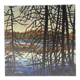 Image of Contemporary Landscape Signed Painting For Sale