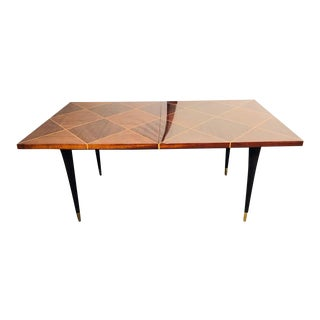 Mid-Century Modern Tommi Parzinger Tagged Dining Table With Two Leaves For Sale