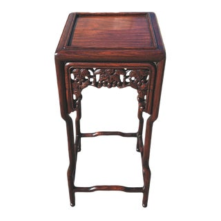 19th Century Chinese Rosewood Carved Small Table For Sale