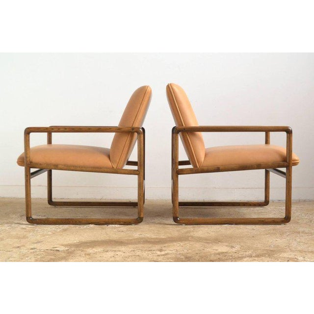 Mid-Century Modern Pair of Ward Bennett Lounge Chairs by Brickel For Sale - Image 3 of 10
