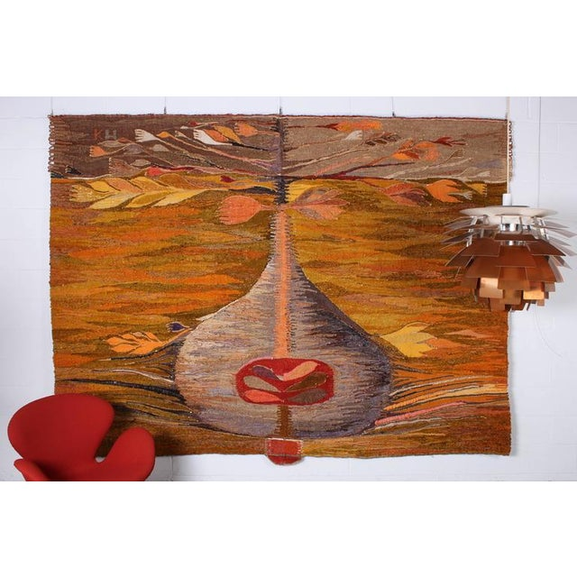 "Large Tapestry by Krystyna Wojtyna-Drouet Titled ""Fruit"" - Image 10 of 10"