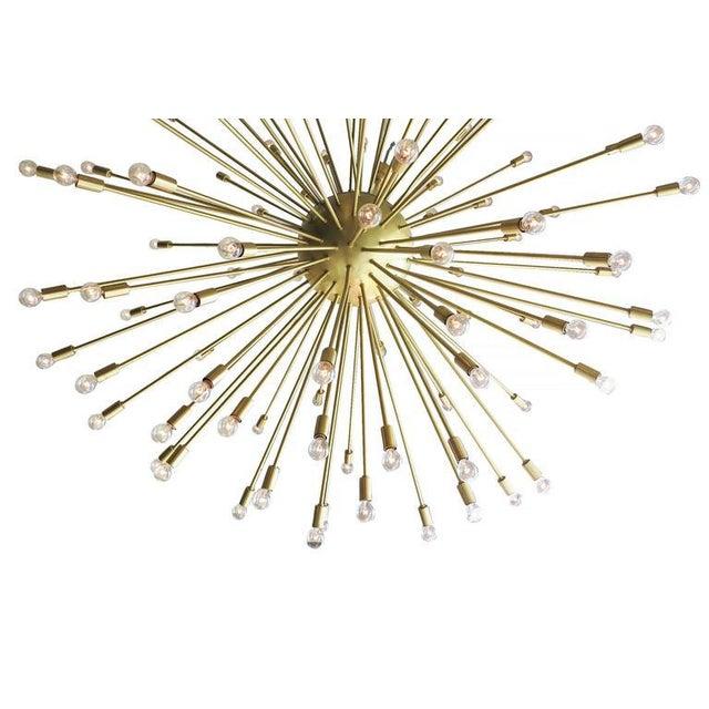 Gold Mid-Century Style Brass Sputnik Chandelier For Sale - Image 8 of 9
