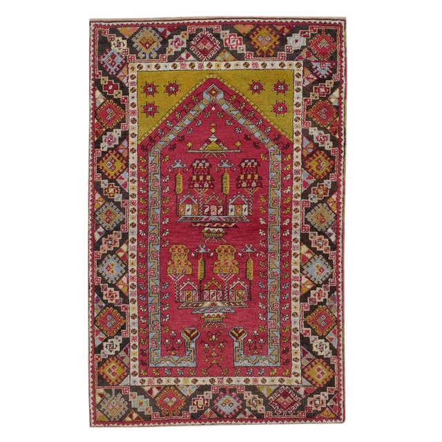 Antique Kirsehir Prayer Rug For Sale