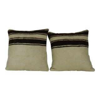 Vintage Turkish Kilim Pillow- a Pair For Sale