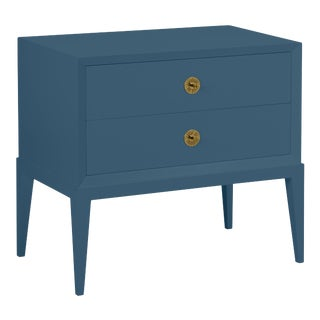 Casa Cosima Hayes 2-Drawer Side Chest, Van Deusen Blue For Sale