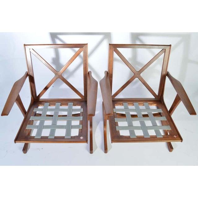 1960s Ib Kofod-Larsen for Selig Denmark Lounge Chairs in Teak For Sale - Image 5 of 11