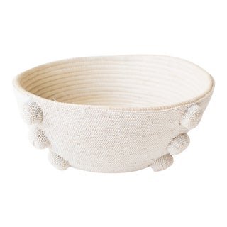 Indego Africa Handmade White Beaded Bowl For Sale