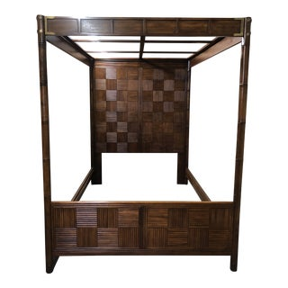 Pan Asian Canopy Bed Frame by Henredon For Sale
