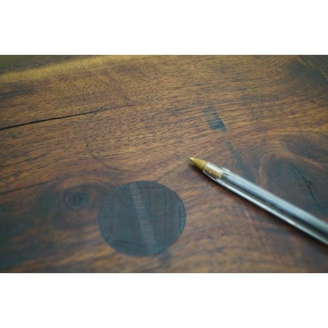Vintage Walnut Free Form Slab Side Table - Image 6 of 10