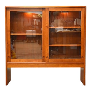 Danish Teak Bookcase Display Cabinet For Sale