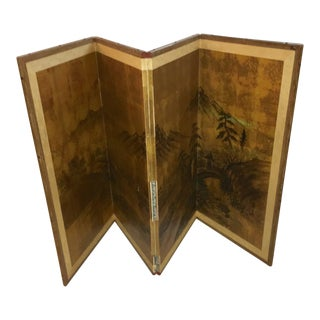 Vintage Japanese Wall Hang Folding Screen For Sale