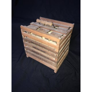 Vintage Country Wooden Egg Carrier Preview