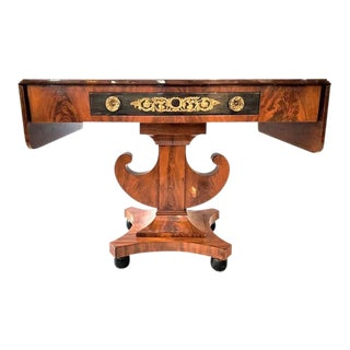Antique 1820s English Regency Style Library Table From the Baltic For Sale
