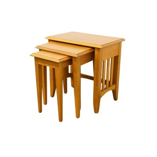 20th Century Mission Thomasville Furniture Lakehouse Collection Nesting Tables - Set of 3 For Sale