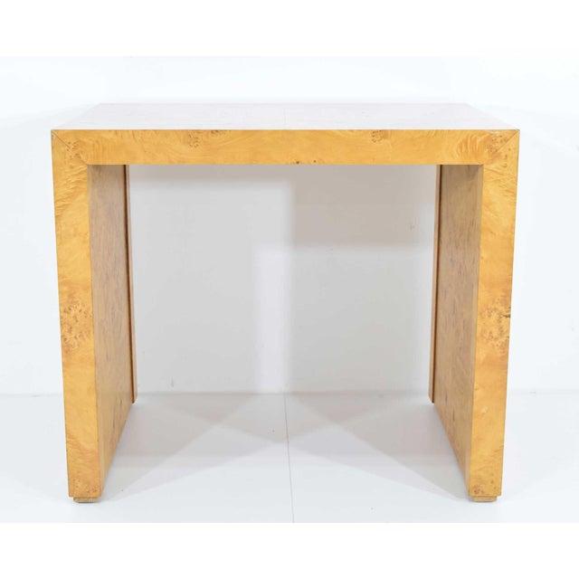 1970s Milo Baughman Burl Wood Side Table For Sale - Image 12 of 12