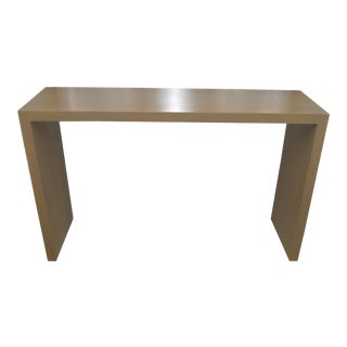 Final Markdown - Custom White Oak Contemporary Waterfall Style Console Table For Sale