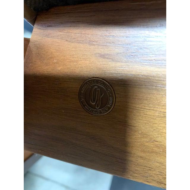 Chestnut Mid-Century Modern Solid Walnut Chair by Gunlocke For Sale - Image 8 of 9