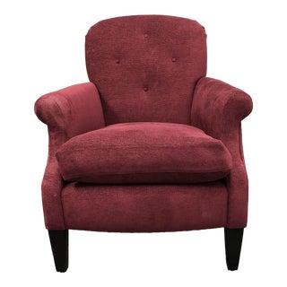 Custom A. Rudin 609 Plum Chenille Accent Chair