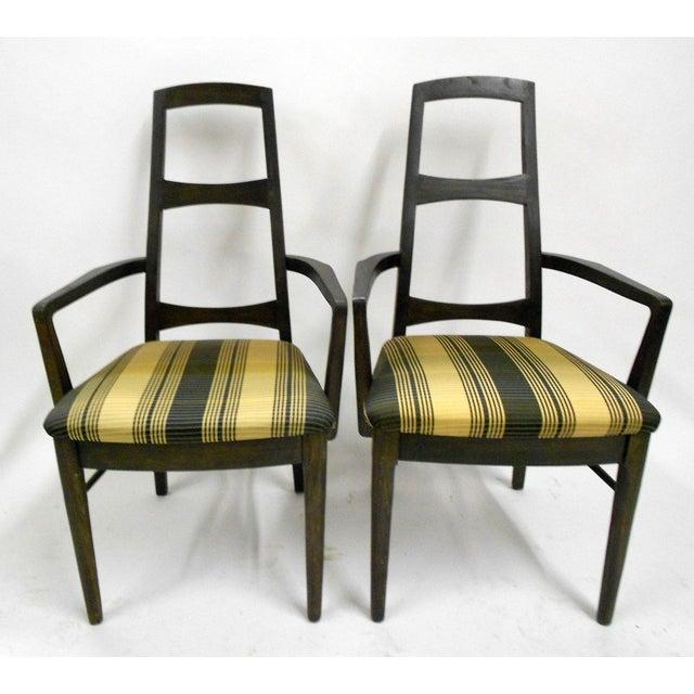 Mid-Century Black Teak Dining Chairs - Set of 6 - Image 5 of 8