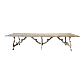 Italian Tuscan Painted Dining Table For Sale