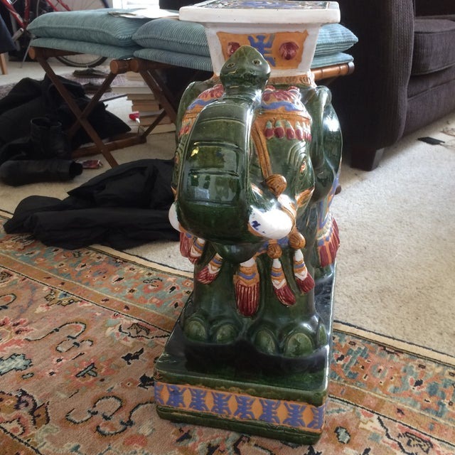 Beautiful decorative elephant statue, can be used as night stand too. Unique piece