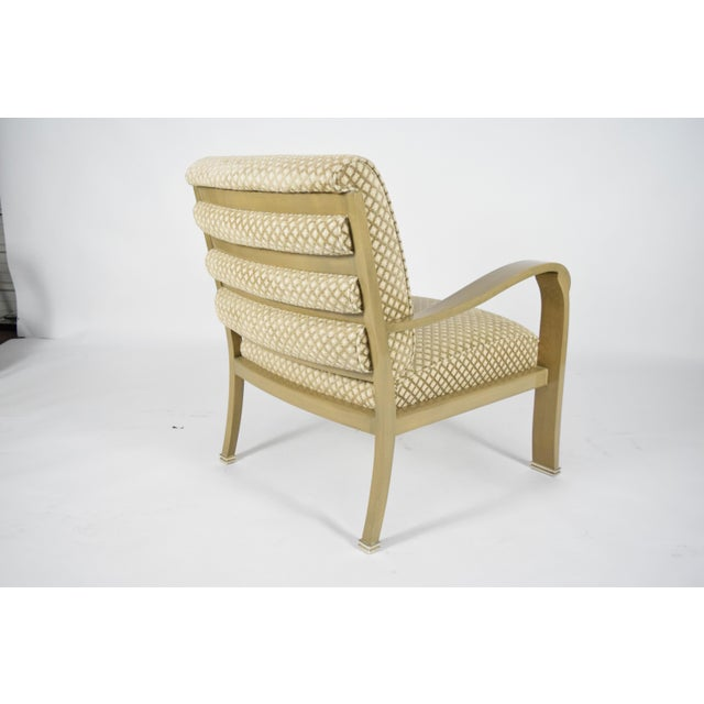 Tan J. Robert Scott Salon Deco Lounge Chairs by Sally Sirkin Lewis- Set of 8 For Sale - Image 8 of 10