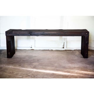"Japanese Yakisugi Wood Parsons Bench Coffee Table 52"" Preview"