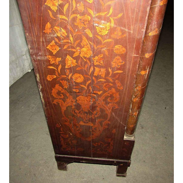 Tall Inlaid Dresser With Bronze Reliefs For Sale - Image 9 of 10